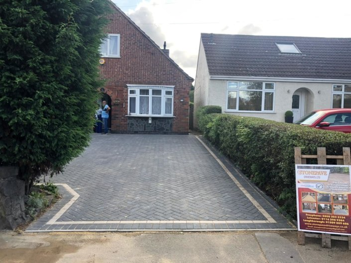 Groby block paving driveway