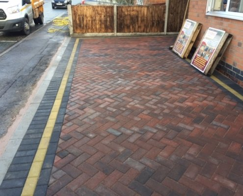 block paving completed in Enderby